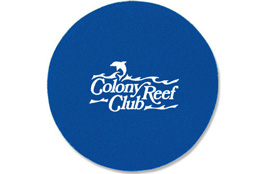 Soft Rubber Drinking Coaster Custom Logo